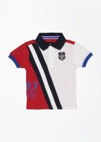 Nautica Boys Striped Cotton T Shirt(Multicolor, Pack of 1)