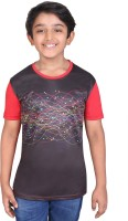 Tantra Boys Graphic Print Polyester T Shirt(Red, Pack of 1)