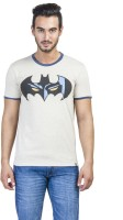 Batman Printed Mens Round Neck White T-Shirt