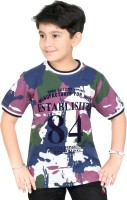 Triki Boys Printed T Shirt(Multicolor, Pack of 1)