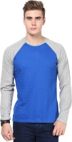 Izinc Solid Men Round Neck Dark Blue T-Shirt