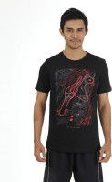 Puma Graphic Print Mens Round Neck Black T-Shirt