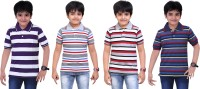 Dongli Boys Printed T Shirt(Multicolor, Pack of 4)