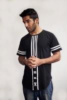 Fugazee Lifestyle Printed Men Round Neck Black T-Shirt