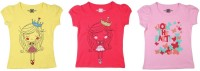 Chalk by Pantaloons Girls Graphic Print T Shirt(Multicolor)