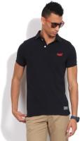 Superdry Solid Men's Polo Neck Dark Blue T-Shirt