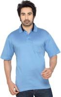 Thinc Solid Men's Polo Neck Light Blue T-Shirt