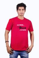 Heritage Design Printed Men's Round Neck Red T-Shirt