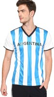 T10 Sports Printed Mens V-neck Multicolor T-Shirt