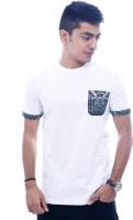 Urban Flux Solid Men's Round Neck White T-Shirt