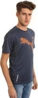 Puma Animal Print Men's Round Neck Dark Blue T-Shirt