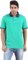 Furore Solid Men's Polo Neck Green T-Shirt