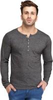 Leana Solid Men's Fashion Neck Grey T-Shirt