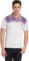 Elaborado Printed Mens Polo Neck Purple T-Shirt