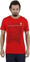Puma Printed Mens Round Neck Red T-Shirt