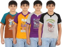 Zippy Boys Printed T Shirt(Multicolor, Pack of 4)