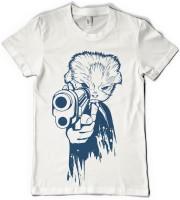 Rawpockets Graphic Print Men's Round Neck White T-Shirt