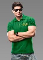 Imagica Solid Mens Polo Neck Green T-Shirt