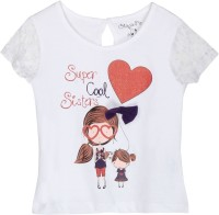 Chirpie Pie by Pantaloons Girls Graphic Print T Shirt(White)
