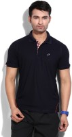 Proline Solid Men's Polo Neck Blue T-Shirt