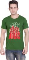 Tantra Graphic Print Men's Round Neck Green T-Shirt
