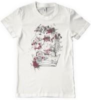 DNA Graphic Print Mens Round Neck White T-Shirt