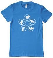 DNA Graphic Print Men's Round Neck Blue T-Shirt