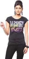 Trendy Girlz Graphic Print Women's Round Neck Black T-Shirt