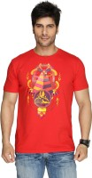 Imagica Printed Mens Round Neck Red T-Shirt
