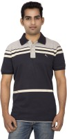 Red Line Solid Men Polo Neck Dark Blue T-Shirt