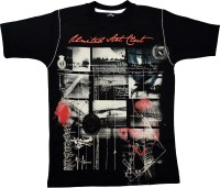 Crux & Hunter Boys Printed T Shirt(Black, Pack of 1)