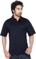Thinc Solid Men's Polo Neck Dark Blue T-Shirt