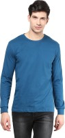 Izinc Solid Men Round Neck Light Blue T-Shirt