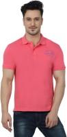 Imagica Solid Men's Round Neck Pink T-Shirt