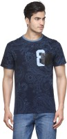 Be Pure Embellished Men's Round Neck Dark Blue T-Shirt thumbnail