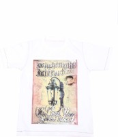Earth Conscious Boys Graphic Print T Shirt(White Pack of 1)