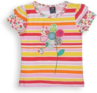 Lilliput Girls Striped T Shirt(Pink)