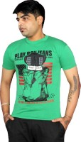 AS42 Solid Men Round Neck Green T-Shirt