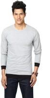 Unisopent Designs Solid Mens Round Neck Grey, Black T-Shirt