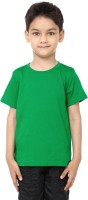 99Tshirts Boys Solid Cotton T Shirt(Green, Pack of 1)