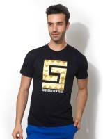 Smugglerz Inc. Graphic Print Men Round Neck Black T-Shirt