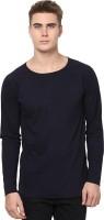 Unisopent Designs Solid Men's Round Neck Dark Blue T-Shirt