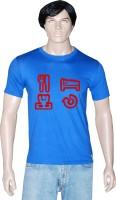 Tshirt.in Graphic Print Men's Round Neck Blue T-Shirt