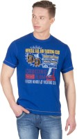 Wilkins & Tuscany Solid Men Round Neck Blue T-Shirt