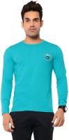 Ebry Solid Mens Round Neck Light Blue T-Shirt