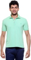 Tog Solid Men's Polo Neck Light Green T-Shirt