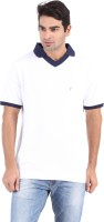 Furore Solid Mens Polo Neck White T-Shirt