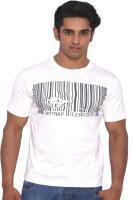 Rat Trap Printed Men Round Neck White T-Shirt
