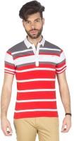 Mufti Striped Men Henley Multicolor T-Shirt