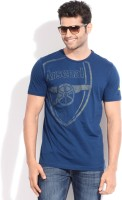 Puma Printed Mens Round Neck Blue T-Shirt